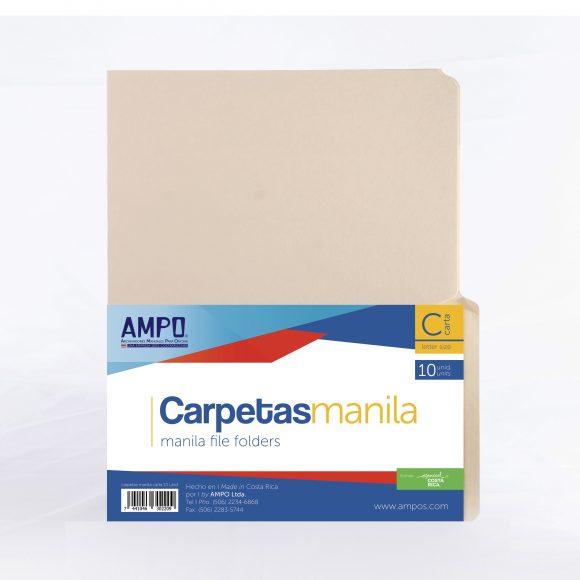 carpeta manila paquete 10 unidades