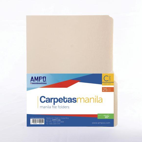 carpeta manila paquete 25 unidades