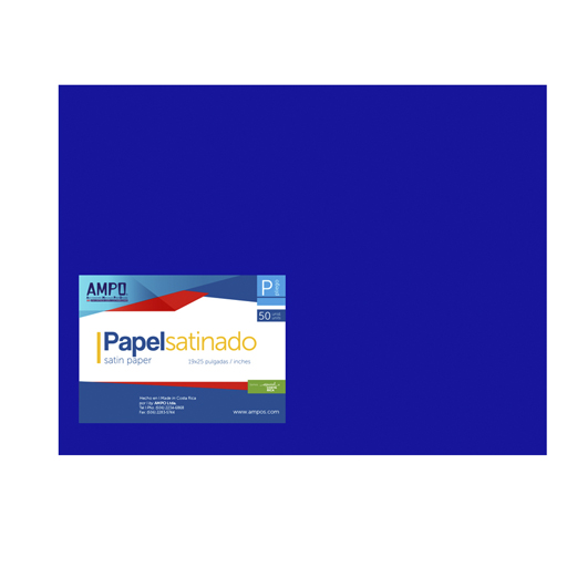 PAPEL SATINADO AZUL