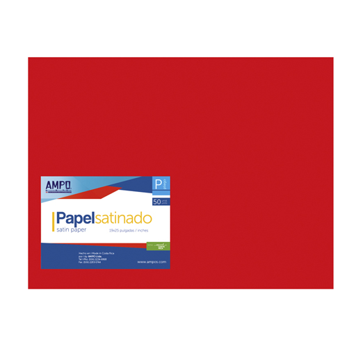 PAPEL SATINADO ROJO